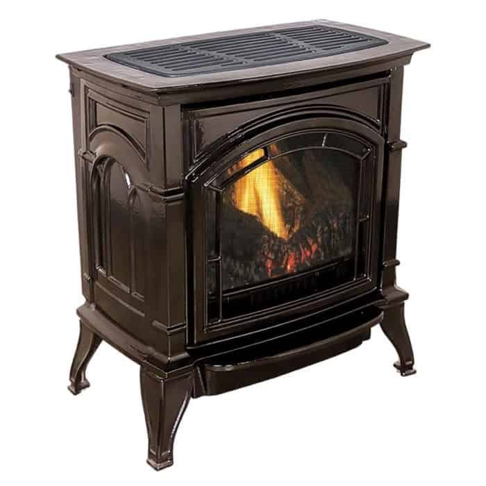 Gas-burning fireplace