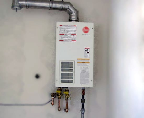 Installing a gas tankless water heater