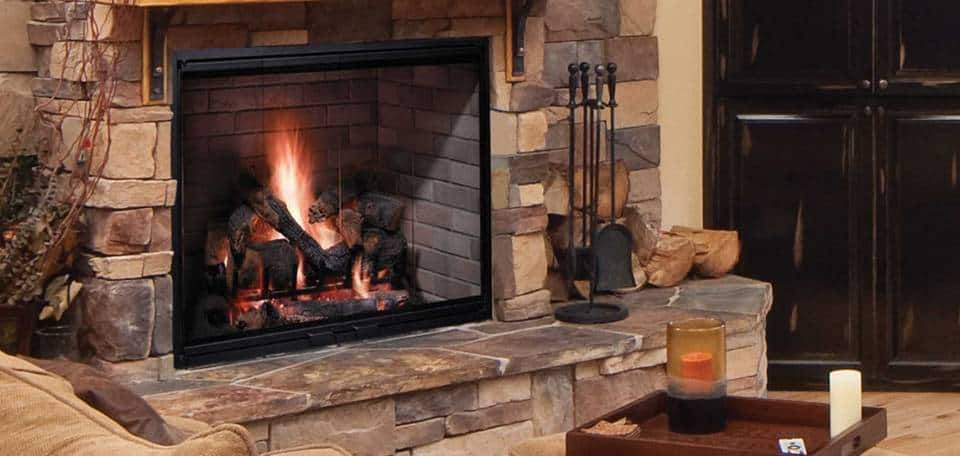 Wood-burning-fireplace