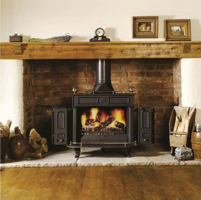 Wood-stove fireplace