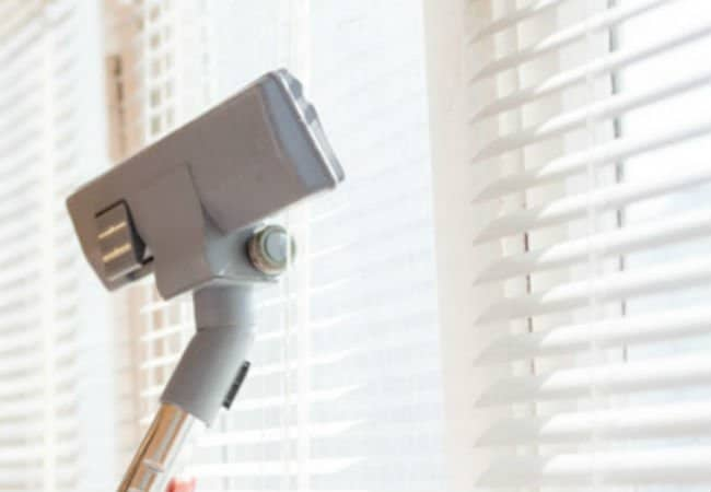 Clean Blind using a Vacuum or a duster