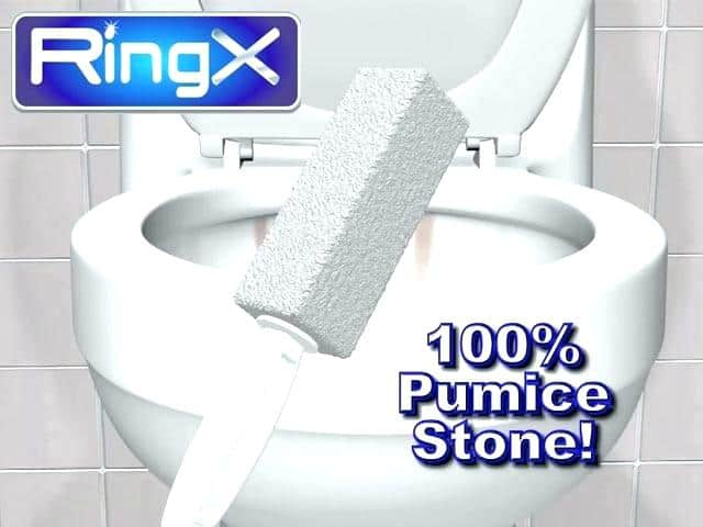 Use The Pumie to Clean A Toilet Bowl Ring