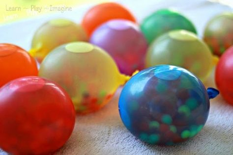 Play Bowling with Frozen Water Balloons